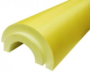 Скорлупа для утепления труб из ППУ с покрытием их стеклопластика