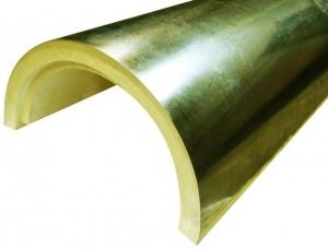 Скорлупа ППУ с покрытием из оцинкованной стали для утепления трубопровода