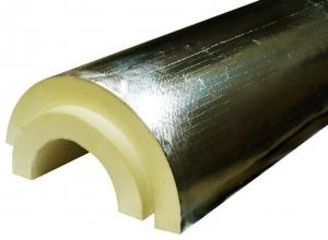 Скорлупа для утепления труб из ППУ с покрытием из армированной алюминиевой фольги (армофол)