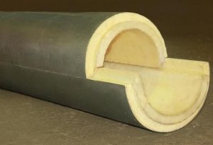 Скорлупа для утепления труб из ППУ с покрытием из пергамина