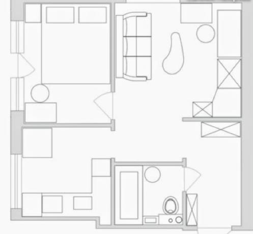 Дизайн однокомнатной хрущевки: 16 советов + фото
