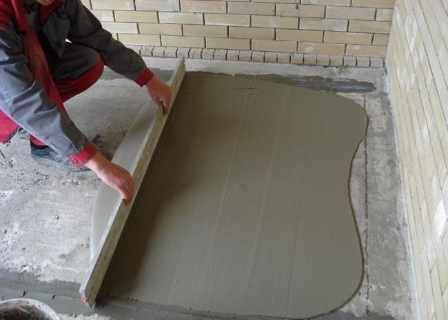 сухая смесь для бетонной стяжки