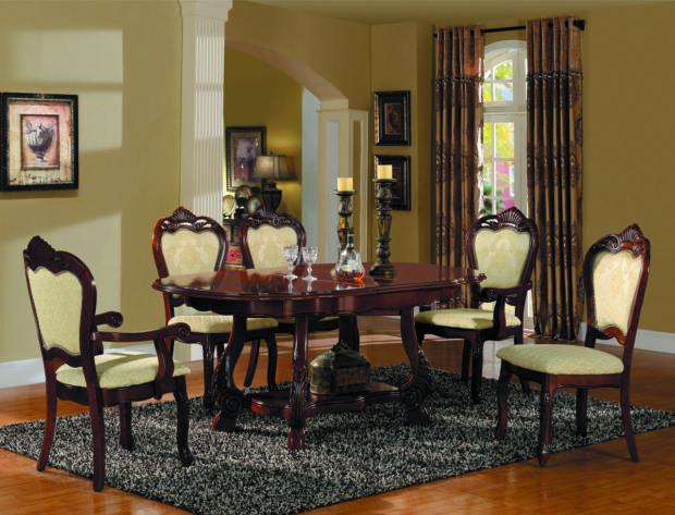 итальянская обеденная мебель в классическом стиле