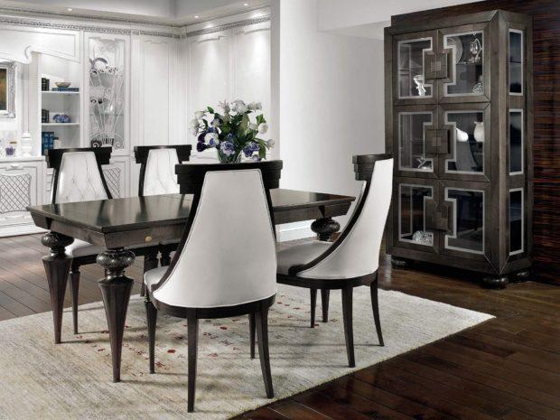 итальянская обеденная мебель в стиле арт-деко