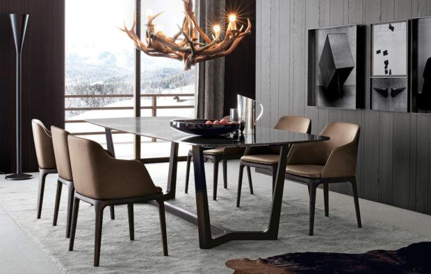 итальянская обеденная мебель в стиле модерн