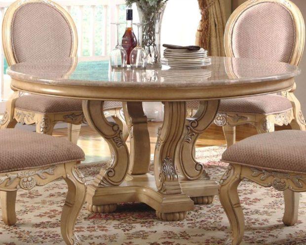 итальянский обеденный стол из камня