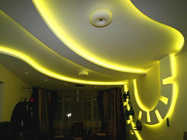 Светодиодная лента в интерьере: 45 идей по использованию + фото