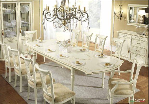 состав итальянской обеденной мебели