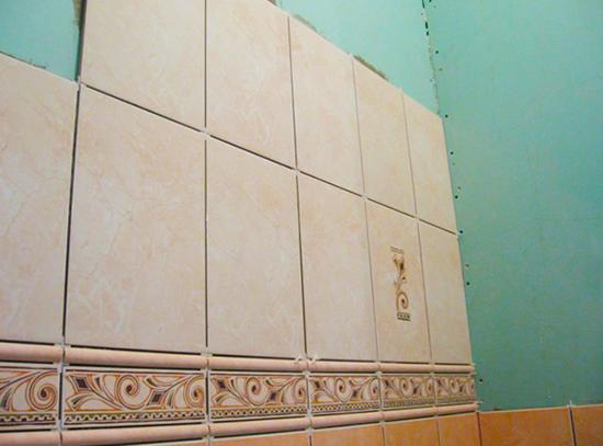 Укладка плитки на гипсокартон в ванной комнате: 9 советов