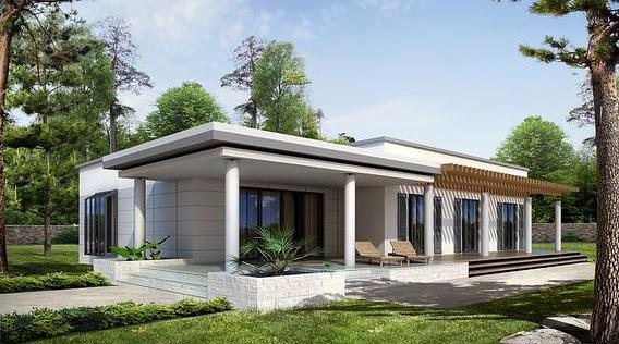 ТОП 10 проектов одноэтажных домов с гаражом