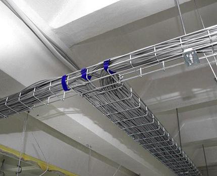 проволочные металлические кабель-каналы