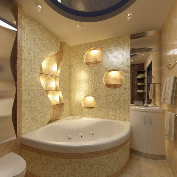 О потолках в ванной