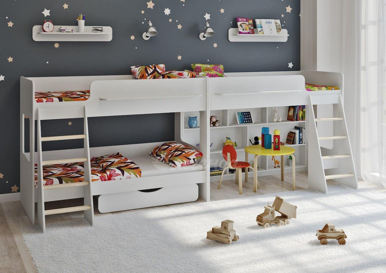 Кровать для троих детей: 6 советов по выбору