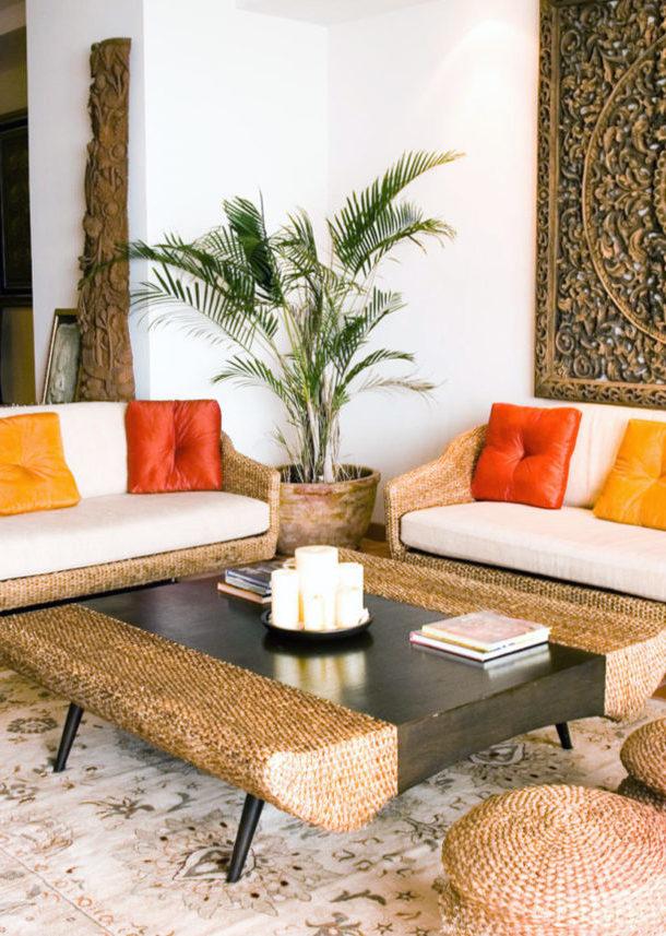 Тропический стиль в интерьере — 6 советов по созданию + фото