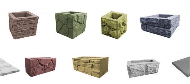 Декоративные бетонные блоки для забора 2