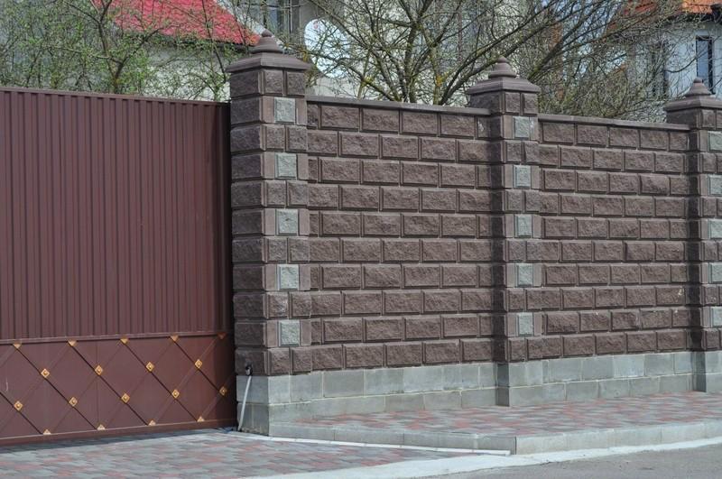 Декоративные бетонные блоки для забора 3