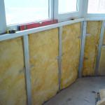 Утепление балкона минеральной ватой 1