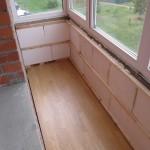 Утепление балкона пенопластом 2