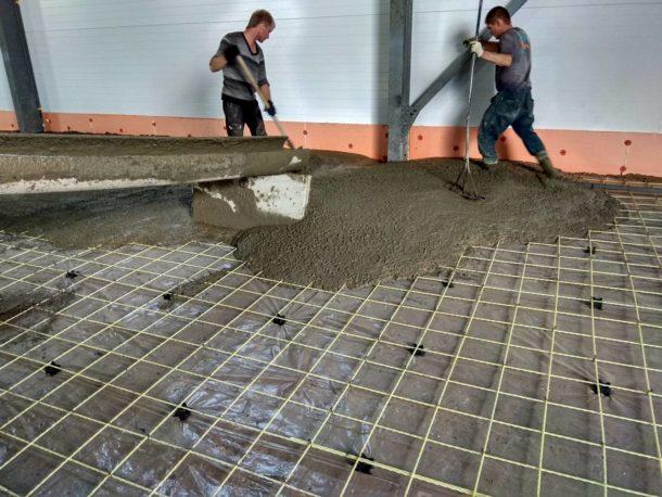 Армированный бетон для пола