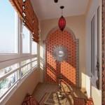балкон в стиле гостинной и бара 1