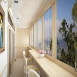 балкон в стиле гостинной и бара 3