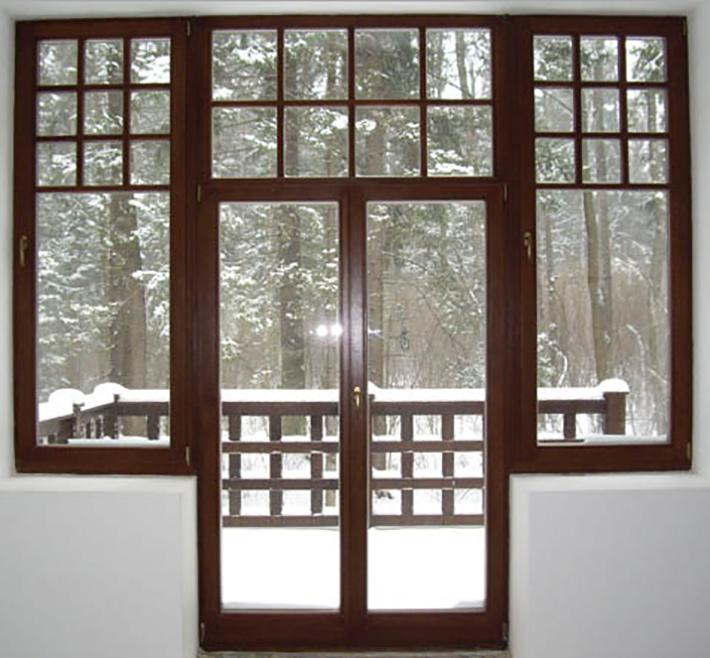 балконная дверь комбинированная