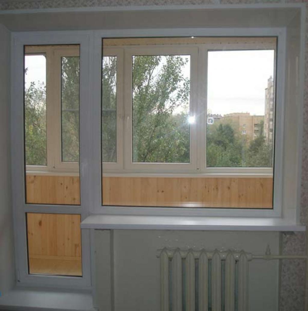 балконная дверь полное остекление 2
