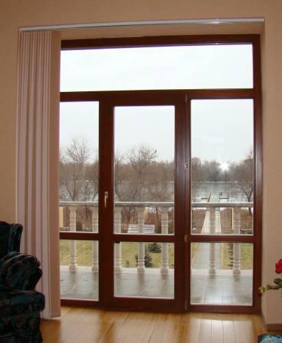 балконная дверь цвет профиля