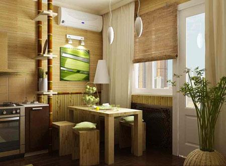 бамбуковые обои в интерьере 7