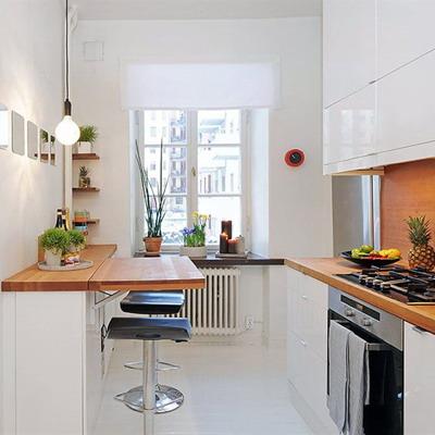 барная стойка в интерьере кухни 4