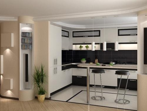 барная стойка в кухне 2