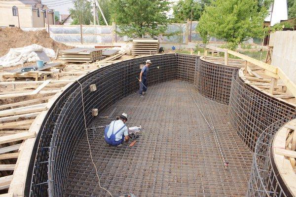 бассейн бетонный армирование 2