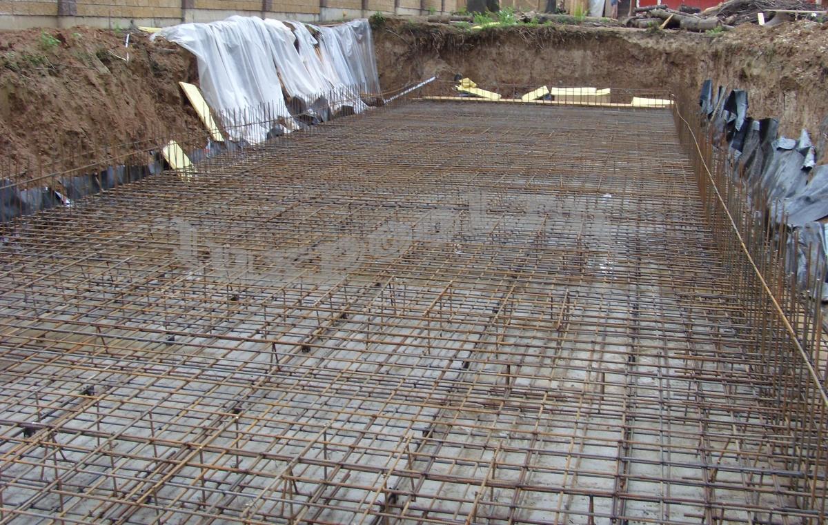 бассейн бетонный армирование