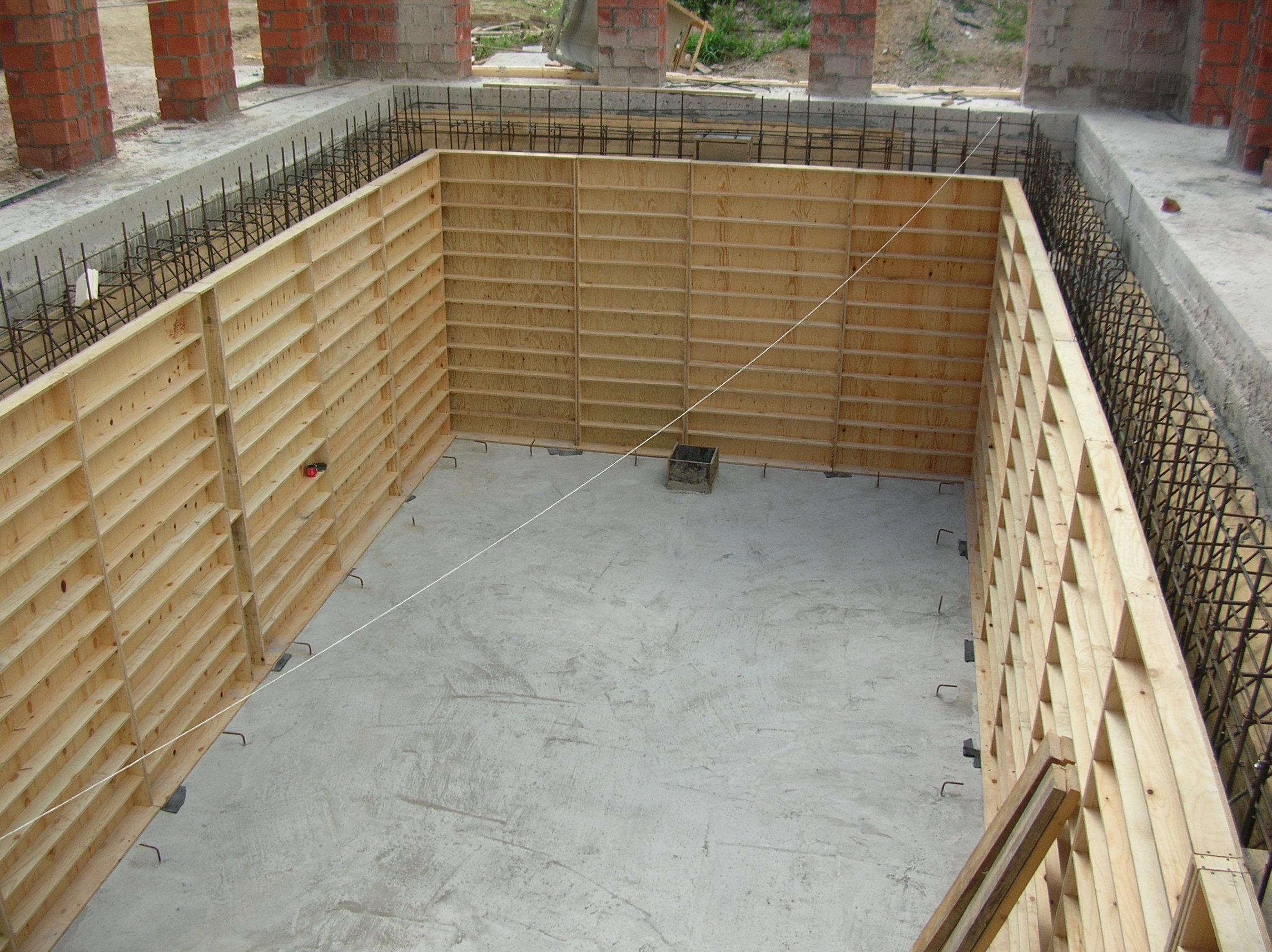 бассейн бетонный опалубка 2
