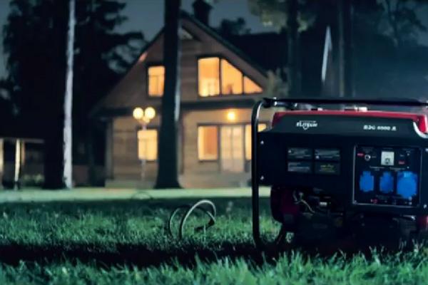 бензиновый генератор на даче