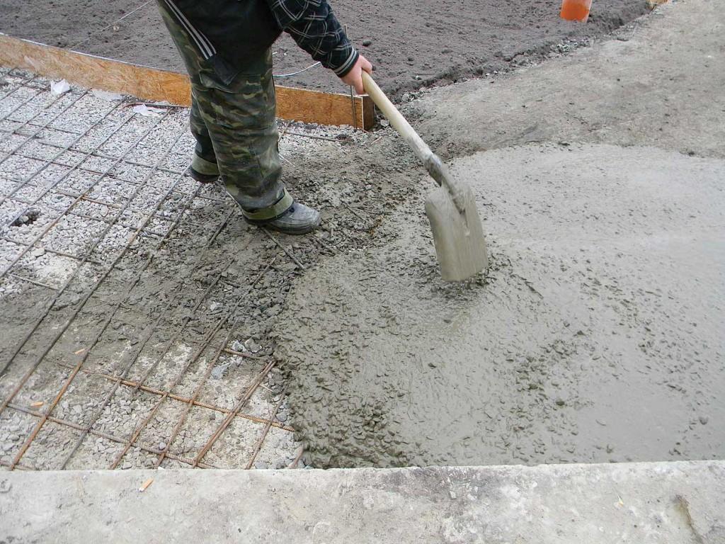 бетонная дорожка армирование 2