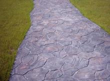 бетонная дорожка декорирование