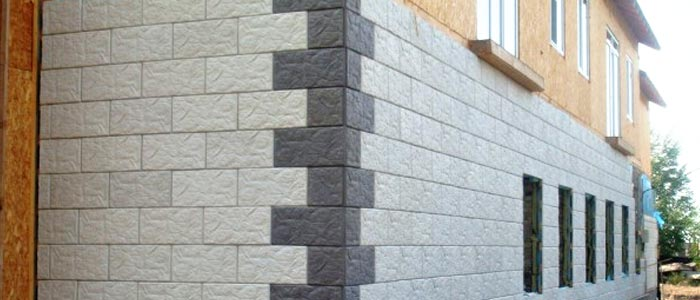 бетонная плитка для фасада дома