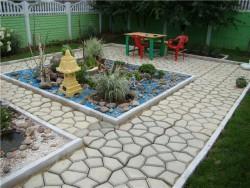бетонный бордюр для садовых дорожек 2
