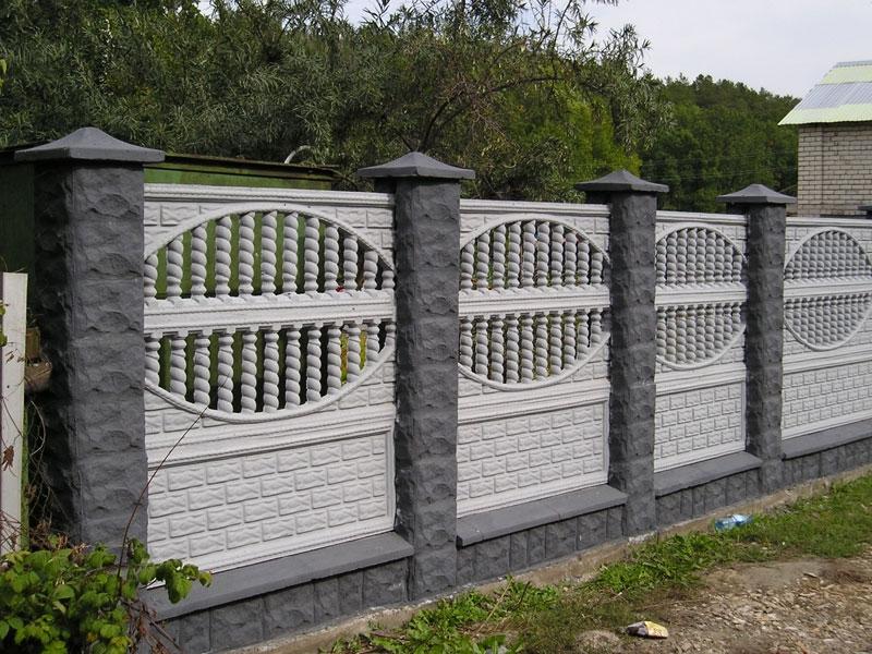 бетонный забор для участка 2