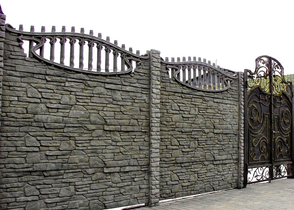 бетонный забор для участка
