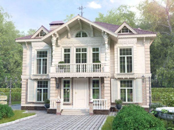 частный дом в классическом стиле 2