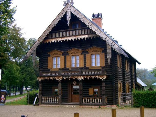 частный дом в русском стиле
