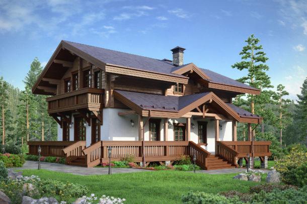 частный дом в стиле шале архитектура
