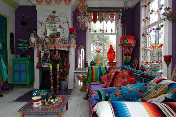 дачный дом интерьер в стиле бохо
