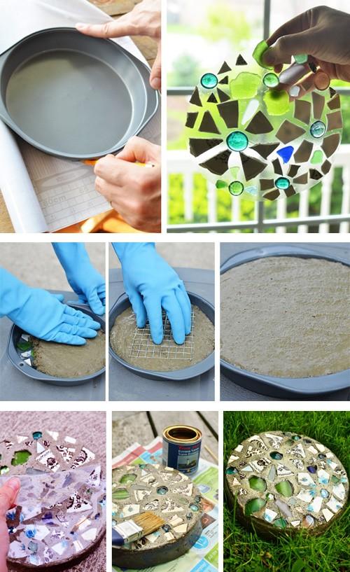 декор плитки для садовой дорожки 8