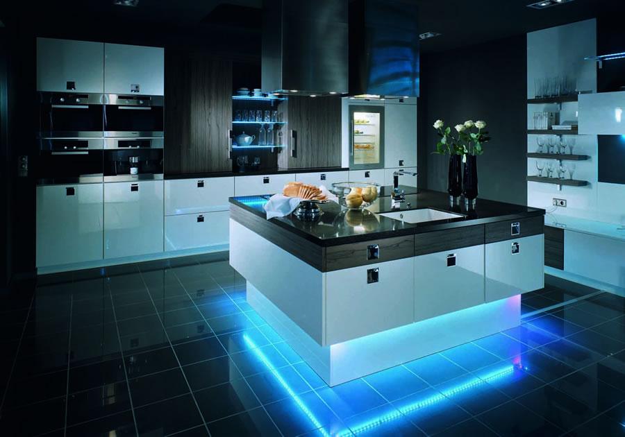 декоративное освещение кухни 2