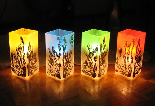 декоративное освещение в спальне 4