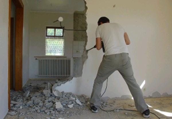 демонтажные работы в гостиной 2