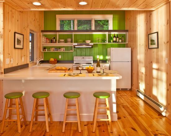 деревянная вагонка для стен кухни